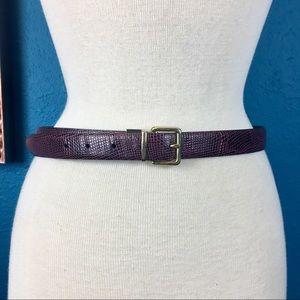 Cole Haan burgundy & black reversible belt S